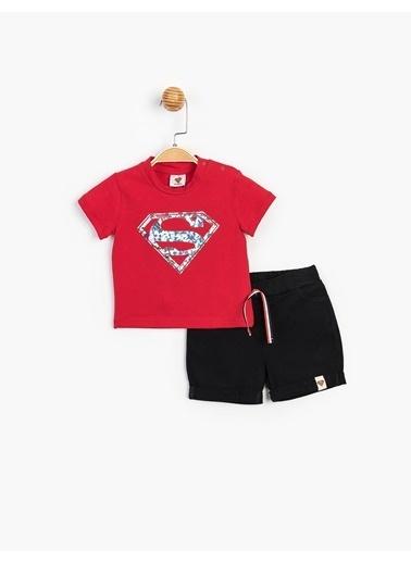 Superman  Bebek Şortlu Takım 15557 Kırmızı